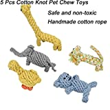 vmree Pet Bite Toys, 5 Pcs Pet Chew Toy Nuts Knots Ball Dog Cotton Rope Clean Teeth Toys (Mulitcolor)