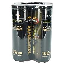 Wilson WRT106204 US Open Extra Duty-3 Ball Can, 4 Pack