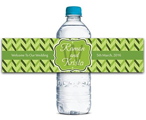 Custom Water Bottle Labels Adhesive Waterproof Custom Wedding Stickers 8