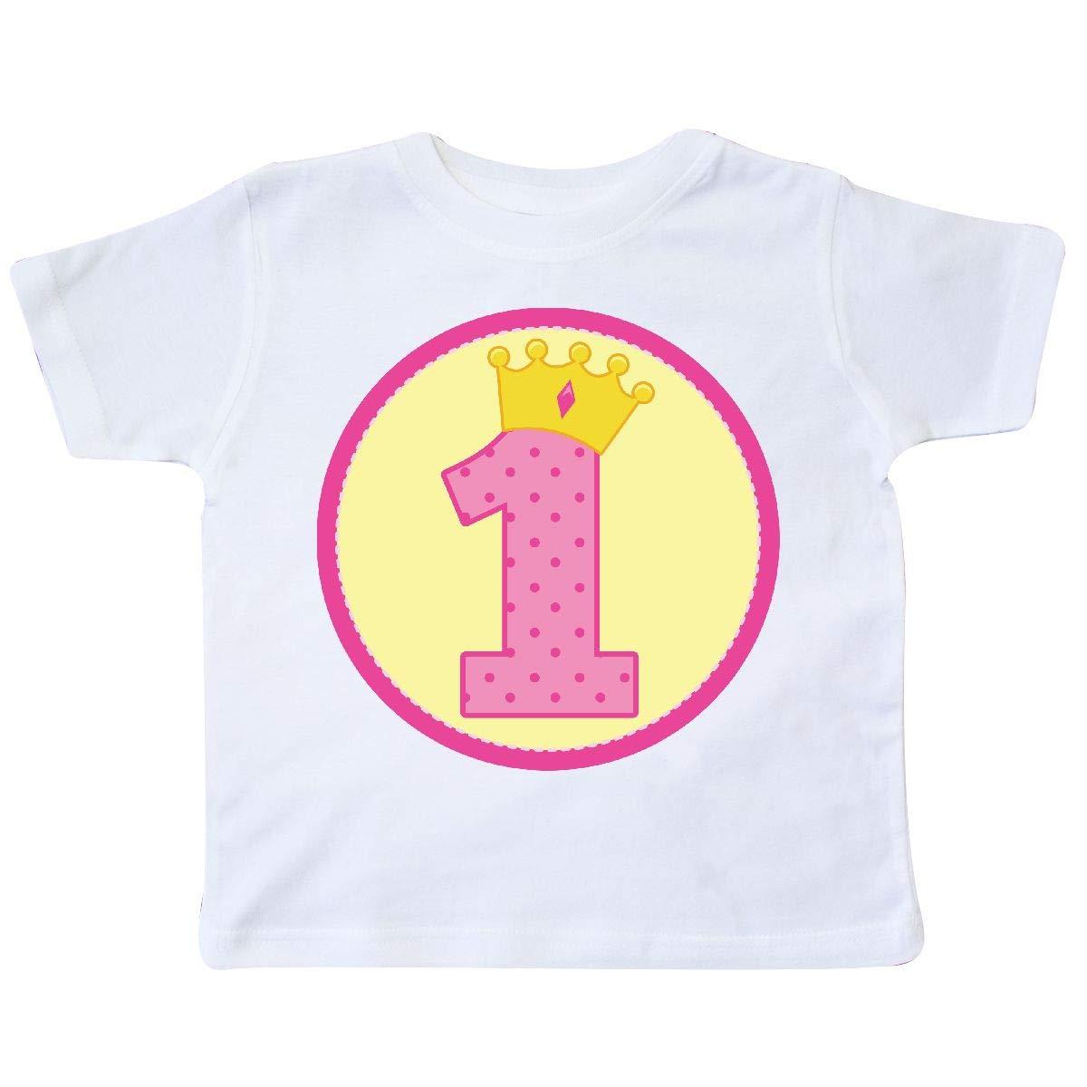 inktastic 1st Birthday Princess Toddler T-Shirt