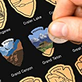 National Parks Scratch Off Map of United States