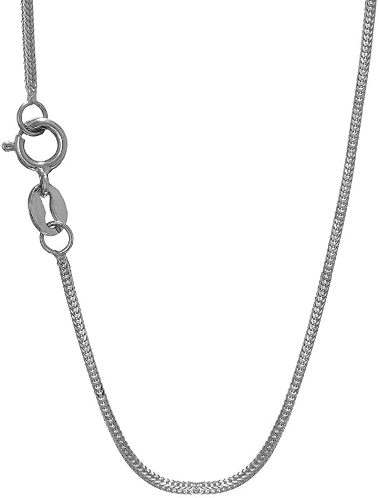 14K Yellow Or White Gold 1.00mm Shiny Foxtail Chain Necklace for Pendants and Charms with Lobster-Claw Clasp 16 18 or 20 inch