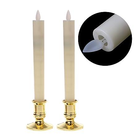 S-TROUBLE Luces de Velas eléctricas con Bases de Oro ...