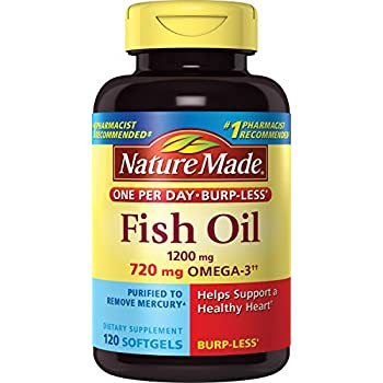 Nature made fish oil 1200 mg w omega 3 360 mg for How many mg of fish oil per day