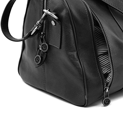 Donna Tuscany Nero A Leather Taille Borsa Unique Spalla qwB6UxCIw