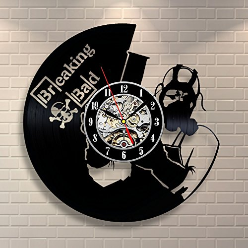 Breaking Bad Vinyl Record Clock Home Design Room Art Decor Handmade Vintage