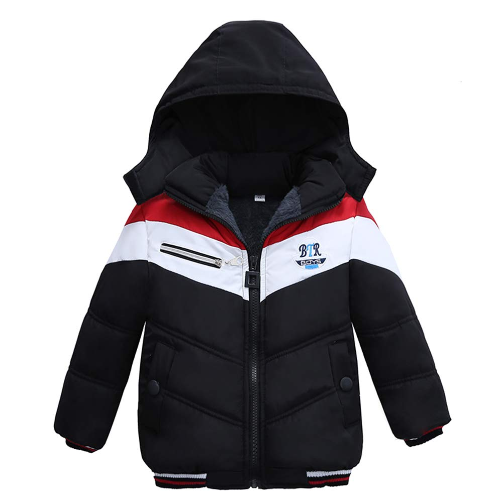 LSHEL Kinderkleidung Junge Baumwollmantel Verdicke Winterjacke Kinder Mantel Jacke Gepolsterte Wintermantel Daunenjacke