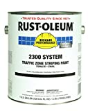 Rust-Oleum 283902 Semi-Gloss Yellow 2300 System Less than 100 VOC Traffic Zone Striping Paint, 1 gal Can (Pack of 2)