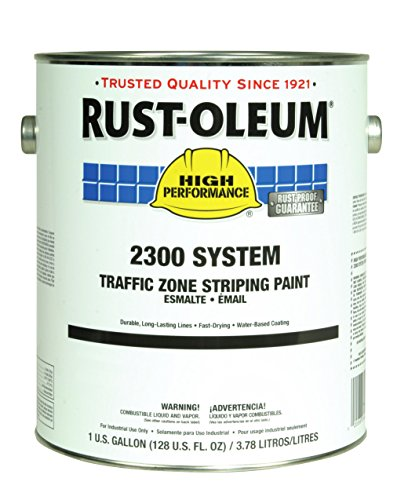 Rust-Oleum 283902 Semi-Gloss Yellow 2300 System Less than 100 VOC Traffic Zone Striping Paint, 1 gal Can (Pack of 2) by Rust-Oleum