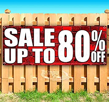 New Sale Up to 80/% Off 13 oz Heavy Duty Vinyl Banner Sign with Metal Grommets Many Sizes Available Store Flag, Advertising