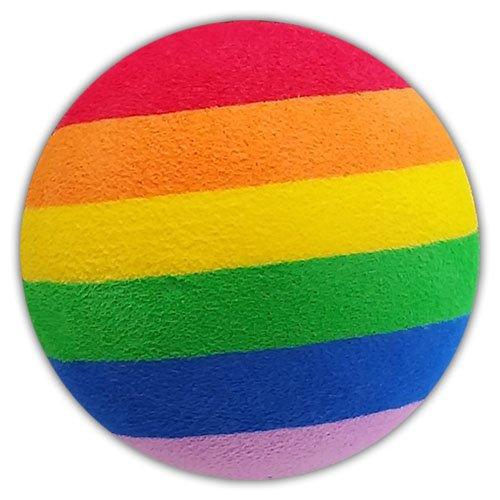Quantity 2 pcs pack - Tenna Tops Rainbow Colors Car Antenna Topper / Antenna Ball / Car Mirror Dangler