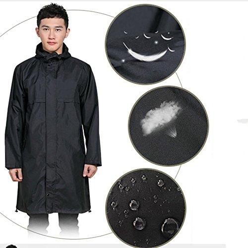 2 A Scuro Maniche Dimensioni Colori Nero Taglia Poncho Lunghe Coat Zzhf Adulto Optional Yuyi L Blu Mantello colore Opzionale Impermeabile Traspirante Trench UEAwnqPp