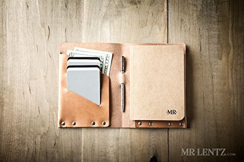 Leather Notebook Wallet (Made in USA by Mr. Lentz) 024 Wallet Writer