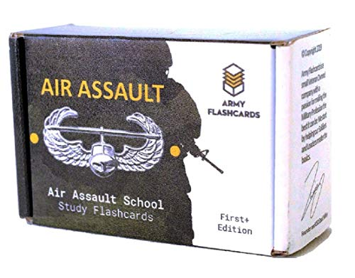 Army Flashcards- Air Assault School Study Flashcards | 100 of The Most Important Topics from Sabalauski AASLT School Handbook | February 2018 | Made in USA