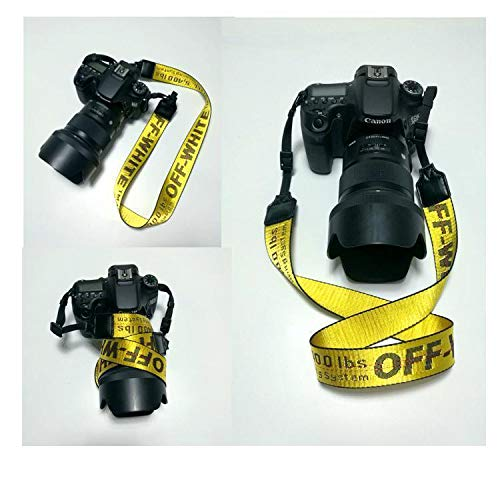 FidgetFidget Strap Belt for Camera Off White Print Camera Neck Strap Neck Shoulder