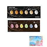 Kuretake Zig Bundle Set , Gansai Tambi Watercolors Starry 6 colors (MC20SC/6V) , Pearl 6 colours (MC20PC/6V) - Japan Import