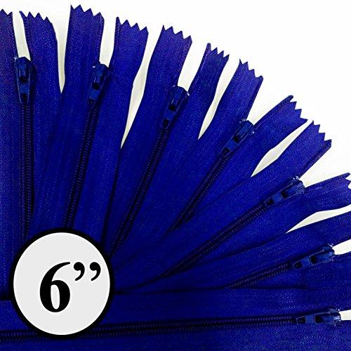 KGS 6 inch Nylon Zipper | 12 pcs/Pack (Royal Blue)