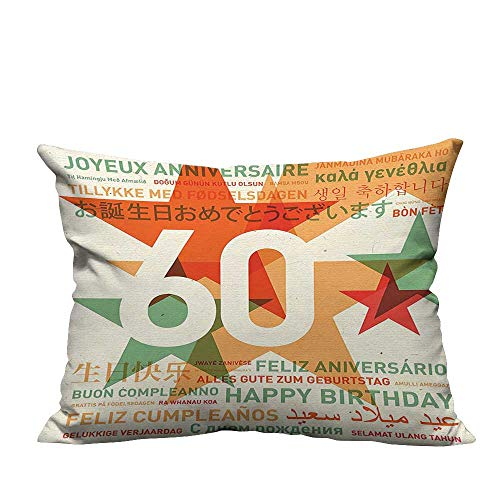YouXianHome Decorative Couch Pillow Cases World Cities Birthday Party with Abstract Stars Green Vermilion and White Easy to Wash(Double-Sided Printing) 19.5x26 inch ()