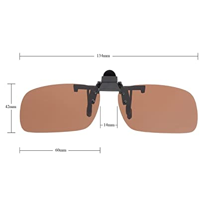 62e3c8b70a Punasi 4-Pack Polarized Clip-on Plastic Sunglasses Lenses for Outdoor  Walking Driving Fishing