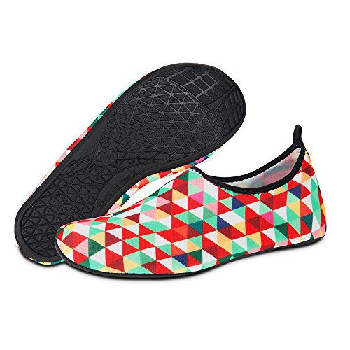 Exercise Beach Shoes Shoes Socks Barefoot Summer Womens for Yoga Swim Tangram Mens for Water Quick and Dry Aqua na0qOgUOw