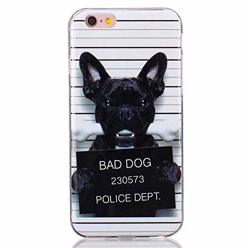 Soft IMD TPU Tasche Hüllen Schutzhülle - Cover Case für iPhone 6s 6 - Bad Dog