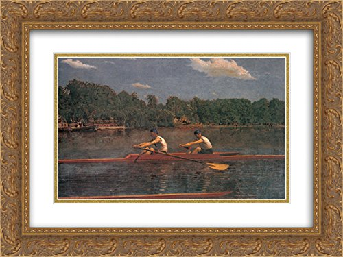 Thomas Eakins 2X Matted 24x18 Gold Ornate Framed Art Print 'The Biglin Brothers Racing'