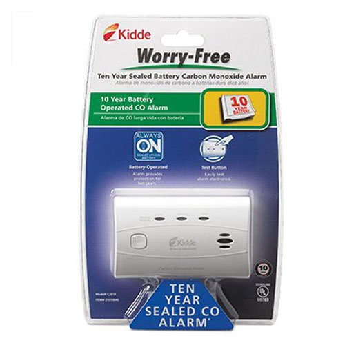 Kidde 21010045 C3010 Worry-Free Carbon Monoxide Alarm with 10 Year Sealed (Co2 Alarm)