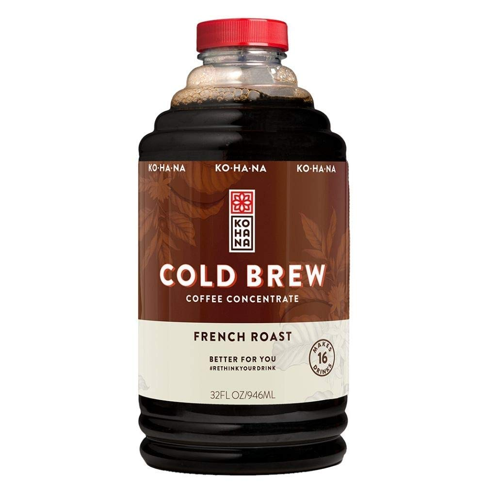 Kohana Coffee Cold Brew Coffee Concentrate, French Roast, 32 Ounce, Makes 16 drinks