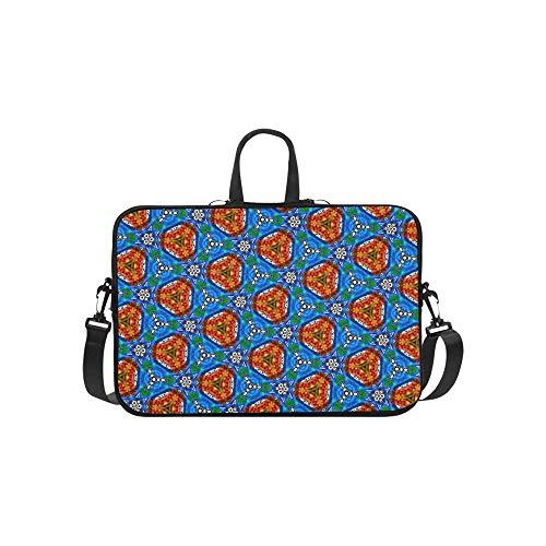 Circles and Hand-Drawn Shapes Pattern Briefcase Laptop Bag Messenger Shoulder Work Bag Crossbody Handbag for Business Travelling