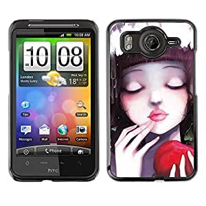 Exotic-Star ( Cute Apple Girl ) Fundas Cover Cubre Hard Case Cover para HTC Desire HD / Inspire 4G