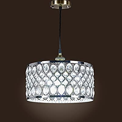 SwanHouse Ceiling Light Chandelier Silver Modern Pendant Lamp KOL W12 xH8