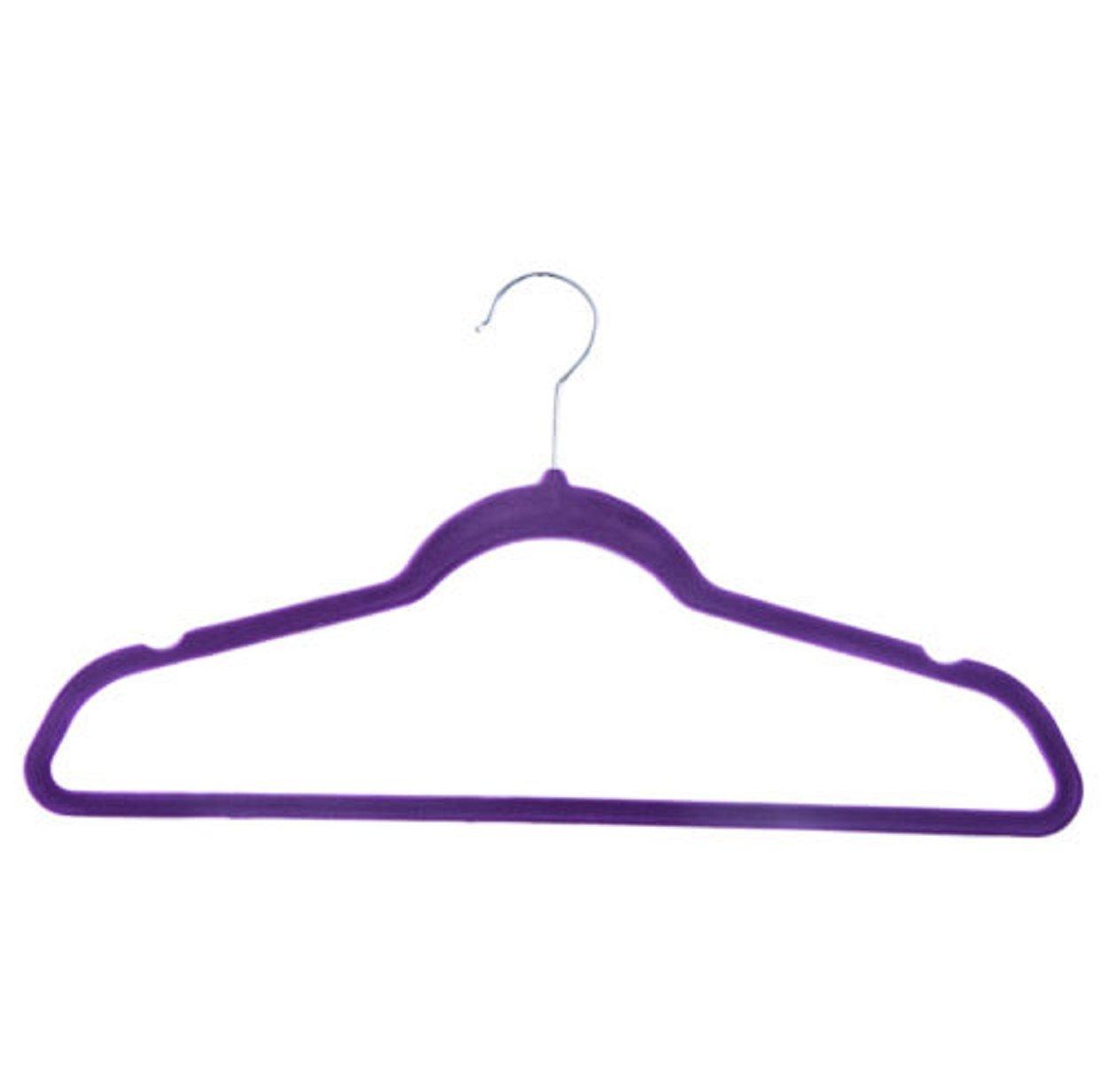 60 PCS Non Slip Velvet Clothes Suit Pants 4 colors the Shape Suit/Shirt/Pants Hangers Multicolor by Phumon567 (Image #5)