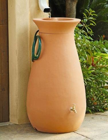 Rain Urn (Algreen Products Cascata Rain Barrel 65-Gallon, Terra Cotta)