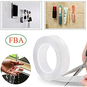 Amazon.com: Cinta adhesiva lavable reutilizable sin rastro ...
