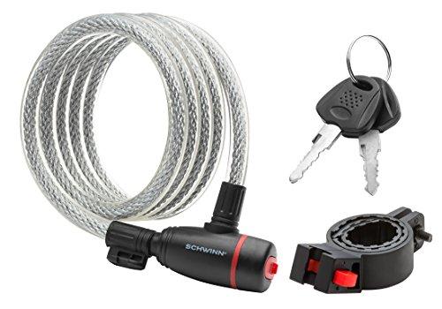 Schwinn SW77779-3 Coil Key Lock, 6-Feet x 12mm by Schwinn