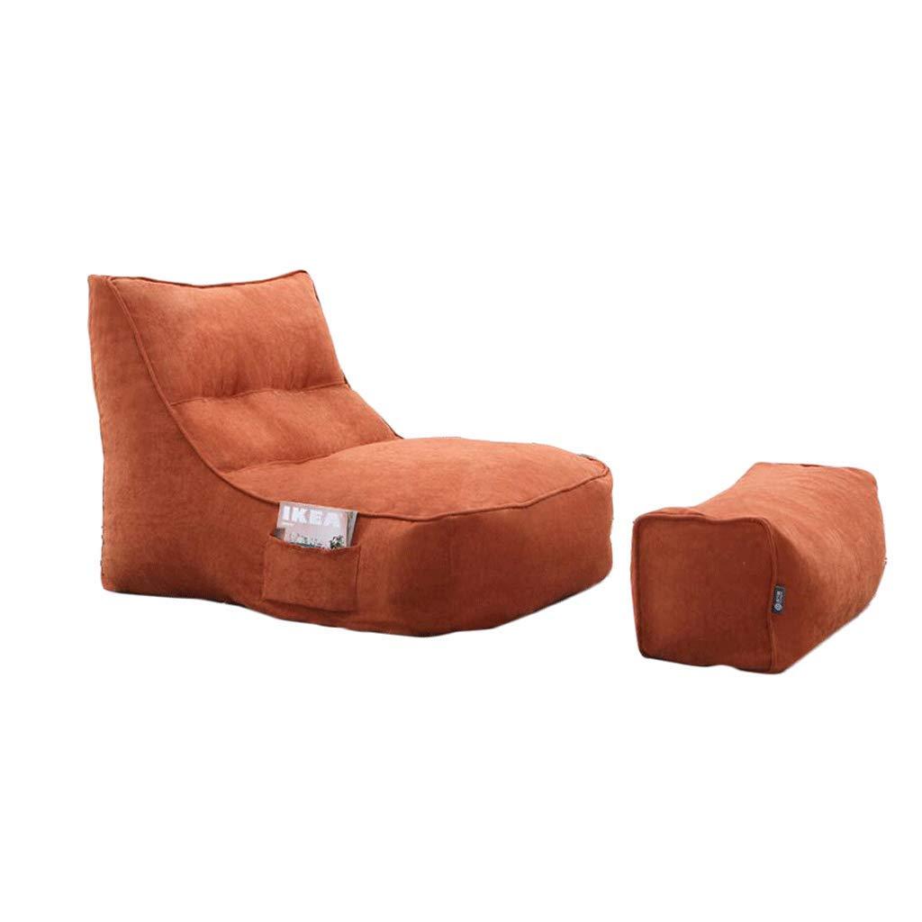 ZL-Sillón puff Bean Bag Perezoso sofá Desmontable Solo sofá Personalidad Ocio Creativo Perezoso Silla (Color : E)