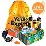 HQ4Kids - Outdoor Adventure Kit for Kids: Set Binoculars, Compass, Magnifying Glass & Flashlight....