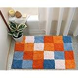 RMHANDLOOM Polyester Anti Skid Door Mat/Bath Mat/Kitchen Mat for Home (16 x 24, Multicolor)