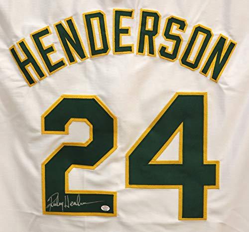 Rickey Henderson Oakland Athletics Signed Autographed White #24 Custom Jersey PAAS COA