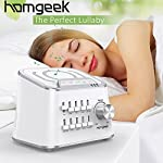 Hangsun White Noise Sound Machine for Baby Sleeping Sleep Soother Generator with 5 Soothing Aid Therapy Sounds, Voice Sensor, Portable Integrated Clip for Travel and Home Use