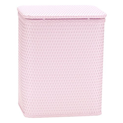 Redmonusa Redmon for Kids Chelsea Pattern Wicker Nursery Hamper, Crystal Pink (Wicker Pink Liner Hamper White)