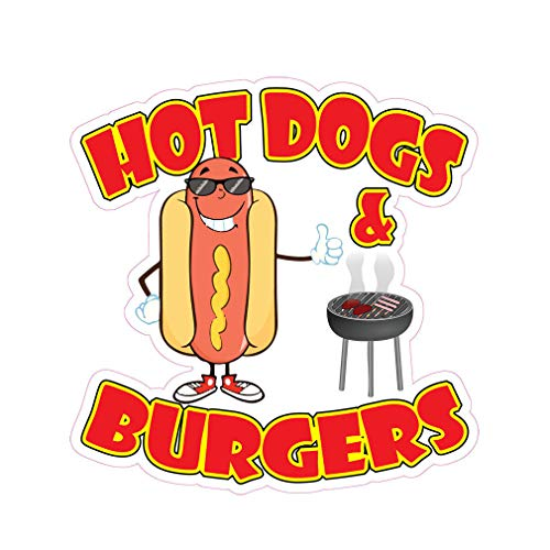 Hot Dogs & Burgers Concession Restaurant Food Truck Die-Cut Vinyl Sticker 8