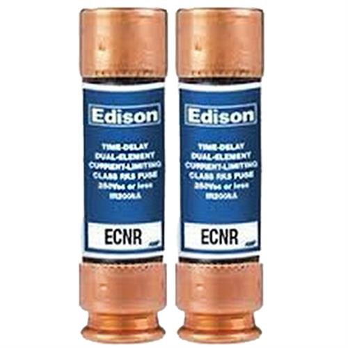( 2 Pack ) Edison ECNR30 - Edison Replacement Time Delay Fuse - 30 Amp 250V - RK5 Dual Element - Amp One Time Fuse