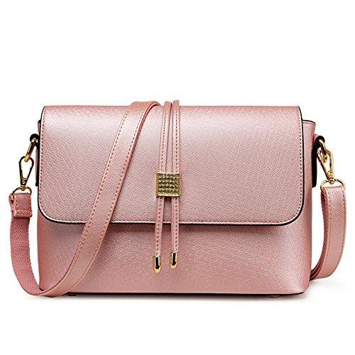 Carré À Pink Sacs Diagonale De Meaeo Épaule Noir Main Sac Unique Mode Nouvelle Petit 5PxCdOCwq