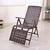 DIDIDD Balcony patio lounge chair folding chair lunch break armchair adult chair lazy pregnant women old chair (color optional),B
