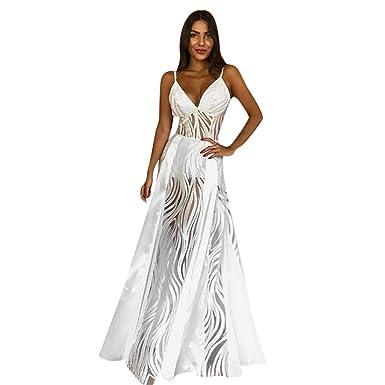 Vestidos de Fiesta Mujer Largos Sexy, MINXINWY Vestido Boda ...