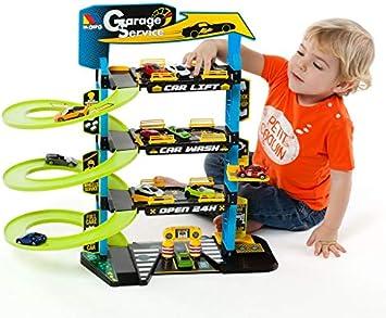 M MOLTO Parking Infantil con 4 Plantas