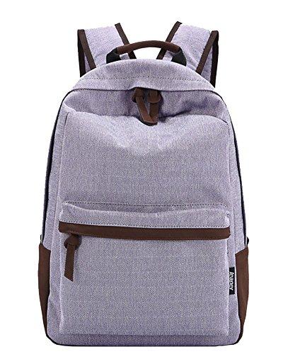 Mochilas Color Sólido Escolares Mochila Escolar Casual Bolsa Viaje Moda Backpack Púrpura ligera Púrpura ligera