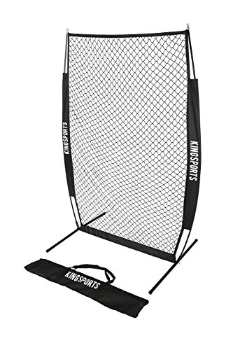 KingSports I-Screen Net, Protective Baseball Net/Protective Softball Pitching Screen with Bow Frame and Carry Bag