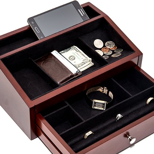 Bleecker Street Men's Mahogany Valet Tray by Bello Games New York, Inc.